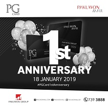 PG Card 1st Anniversary